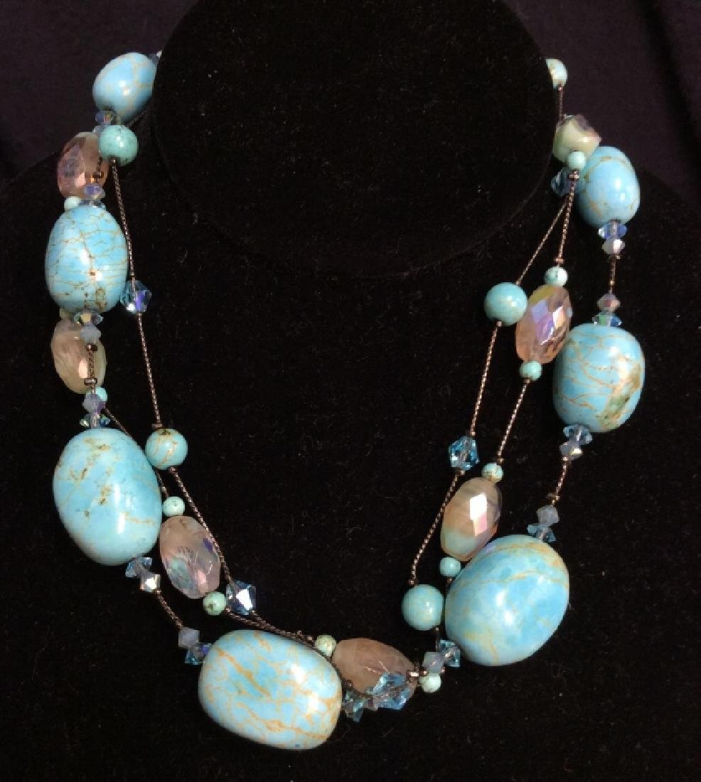 DABBIE REID Natural Stone Bead Necklace