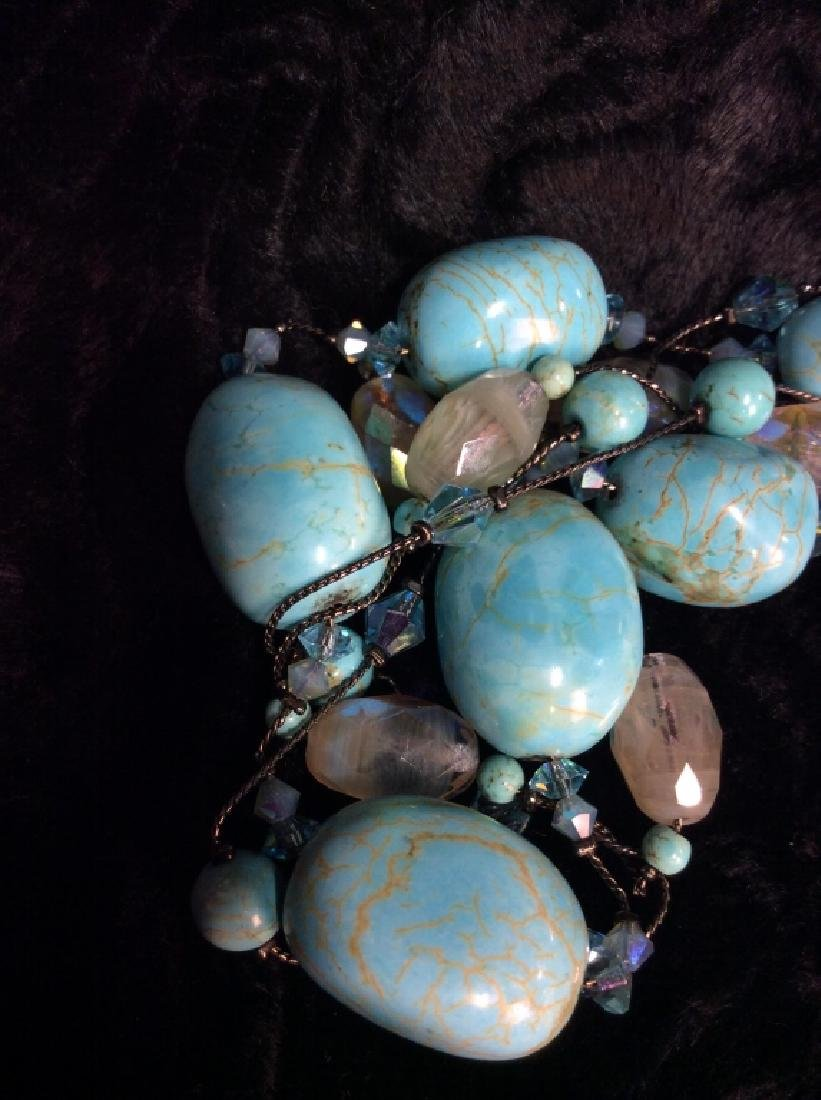 DABBIE REID Natural Stone Bead Necklace - 7