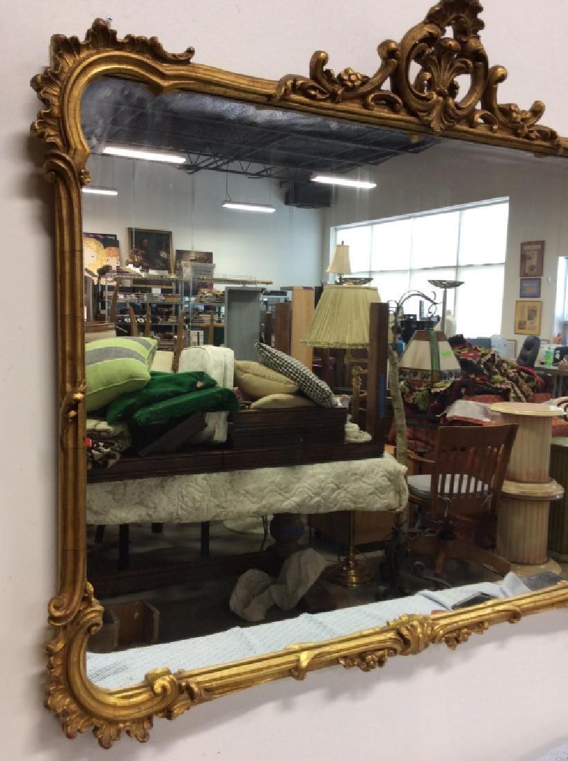 Vintage Carved Woods Gilt Frame Wall Mirror - 6