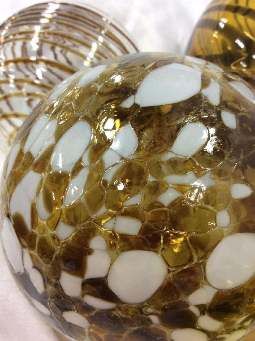 Handcrafted WORLDLY GOODS Gazing Balls - 3