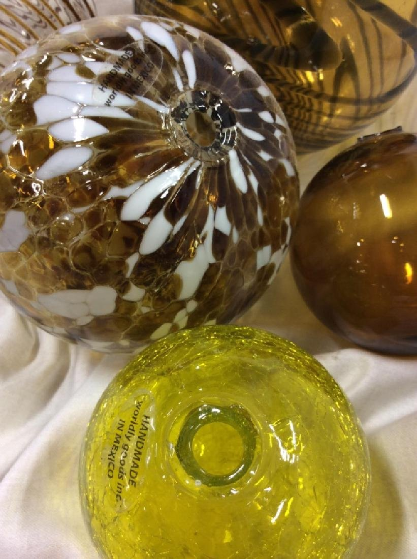 Handcrafted WORLDLY GOODS Gazing Balls - 6