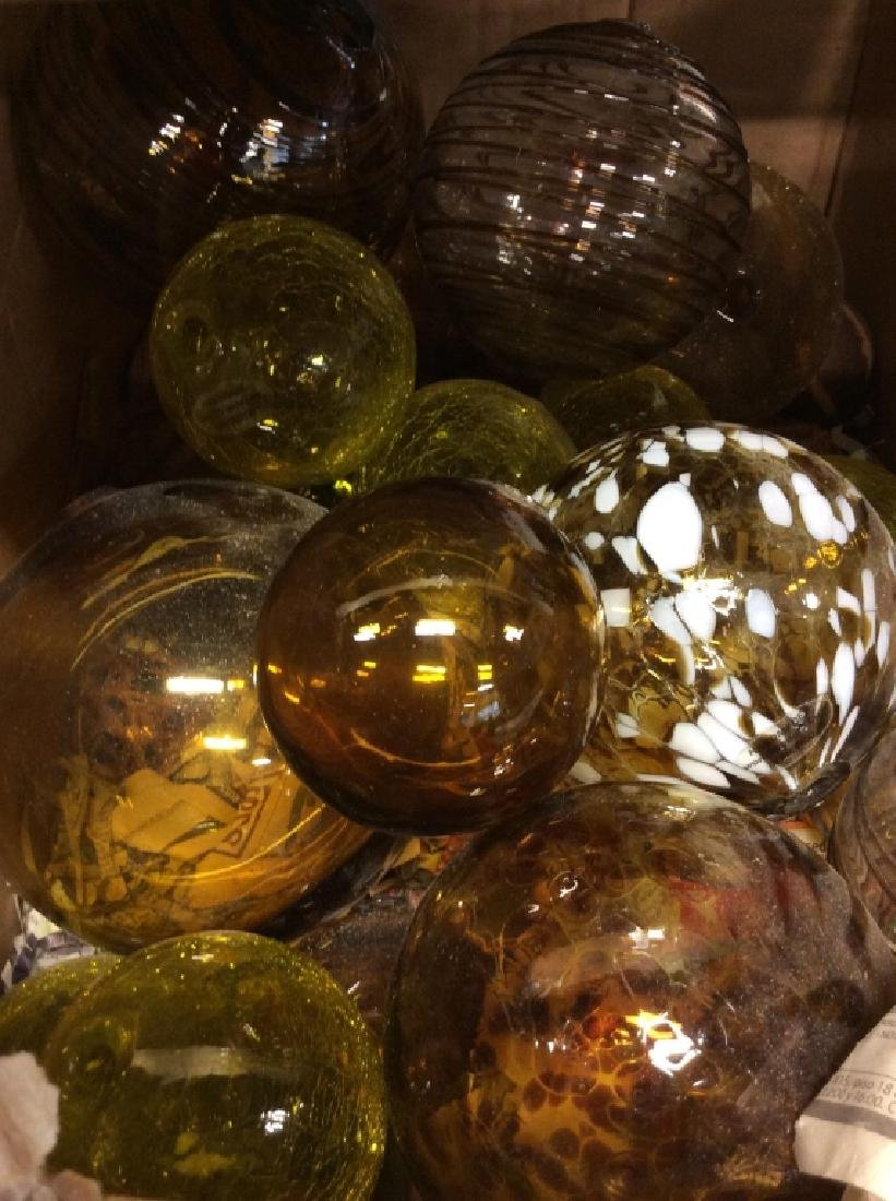 Handcrafted WORLDLY GOODS Gazing Balls - 7