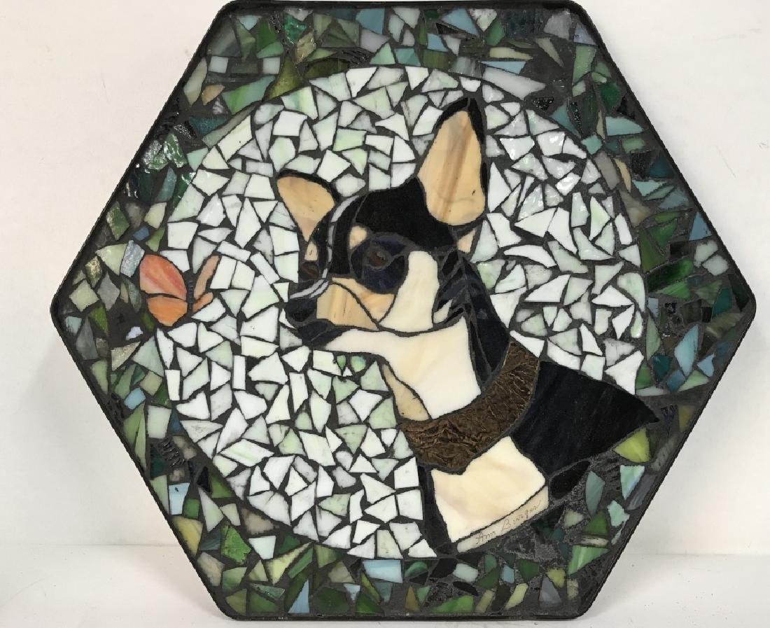 Mosaic Dog Tile Wall Decor Artwork