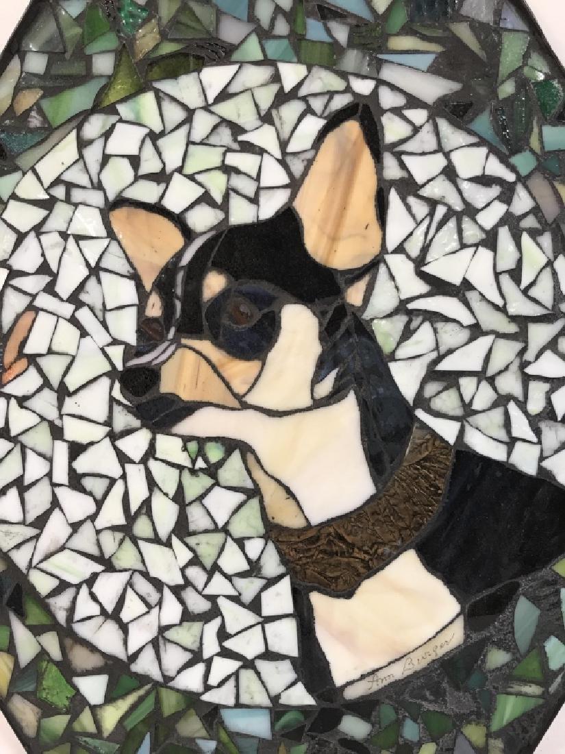 Mosaic Dog Tile Wall Decor Artwork - 2
