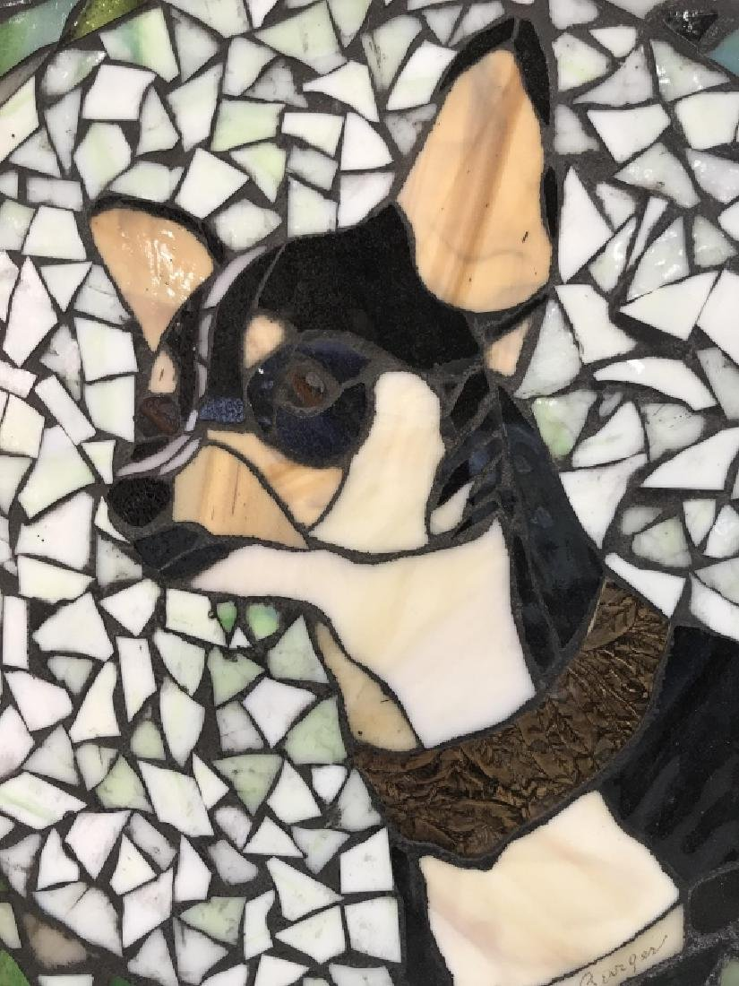 Mosaic Dog Tile Wall Decor Artwork - 3