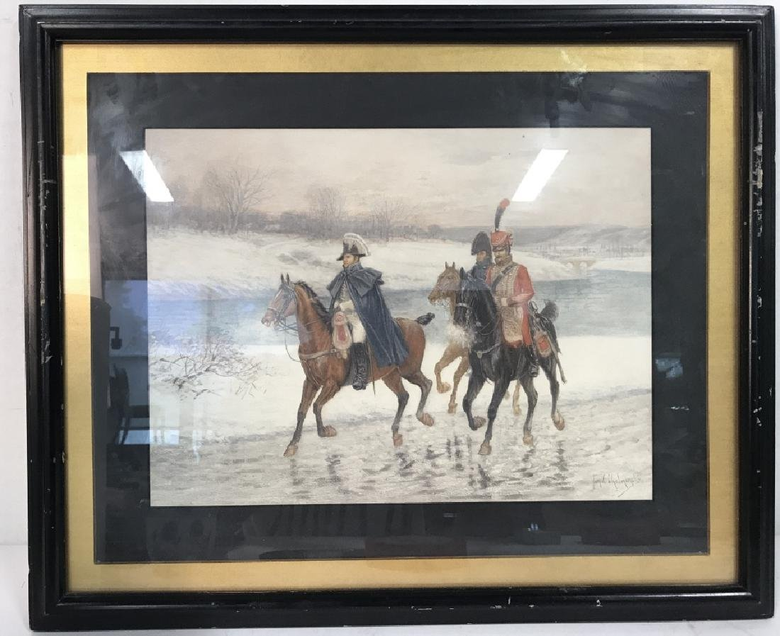 Soldiers On Horses Signed Print Artwork