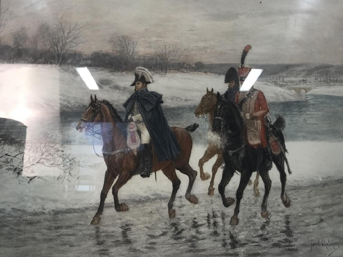 Soldiers On Horses Signed Print Artwork - 2