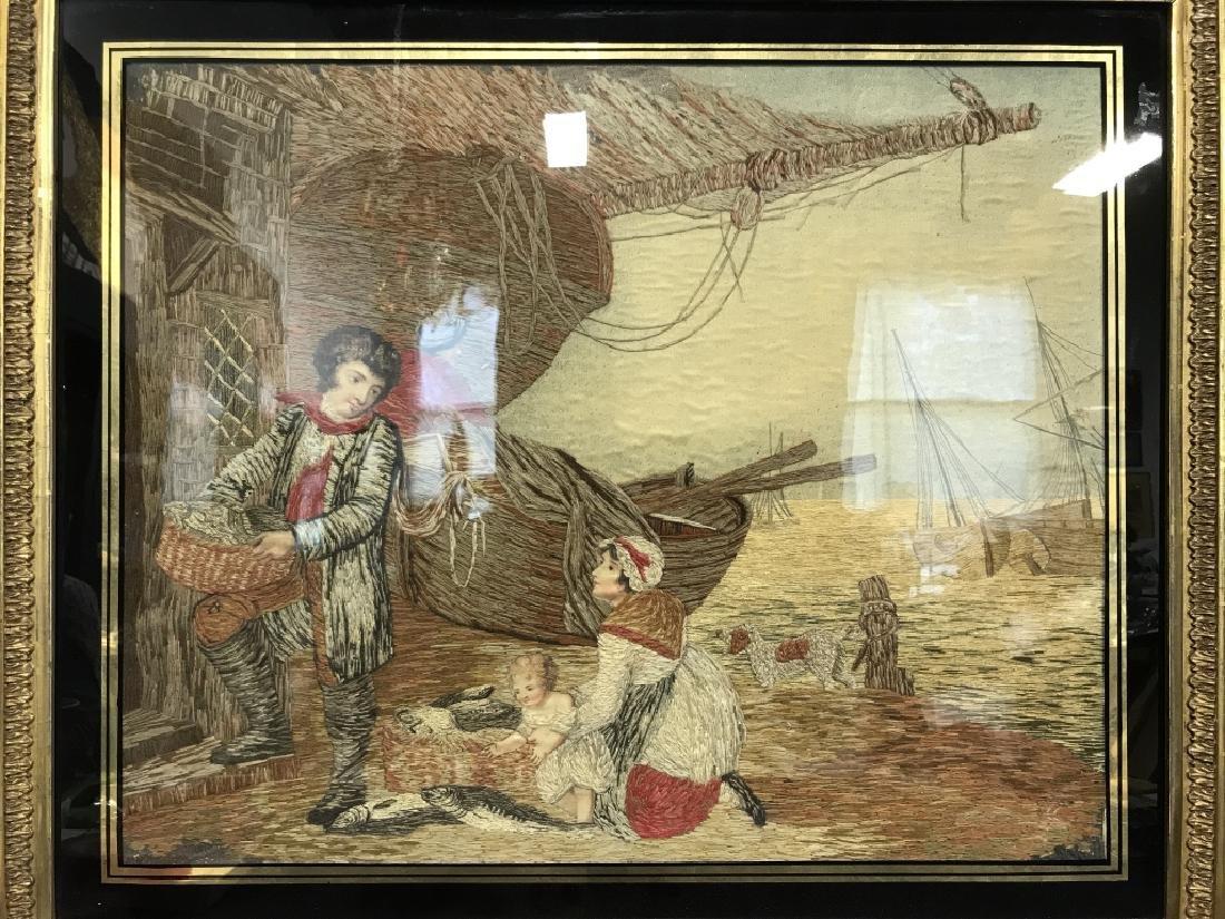 Multimedia Framed Woven Artwork - 2