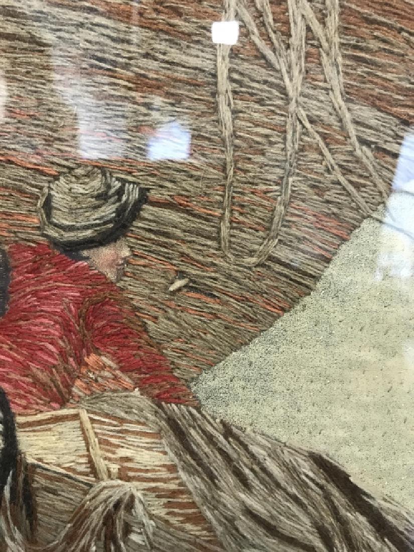 Multimedia Framed Woven Artwork - 7