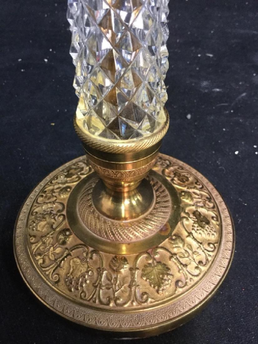 Pair Crystal and Ormolu Candlesticks - 4