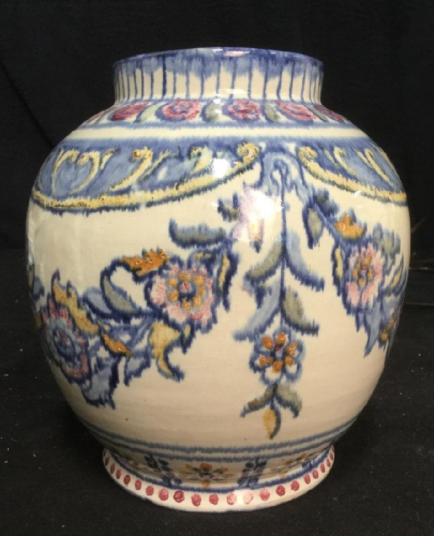 Pair hand painted Ceramic Vases Portugal - 3