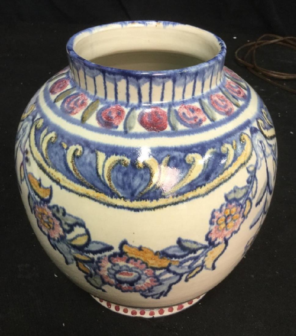 Pair hand painted Ceramic Vases Portugal - 5