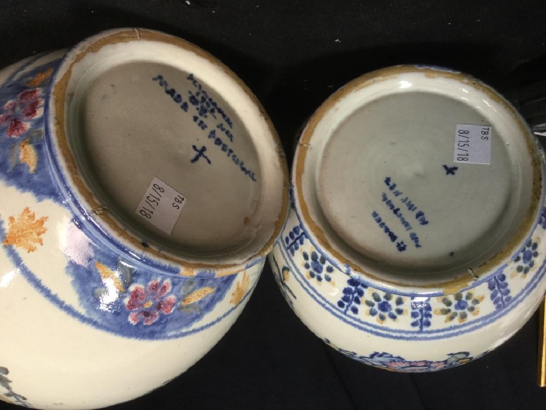Pair hand painted Ceramic Vases Portugal - 6