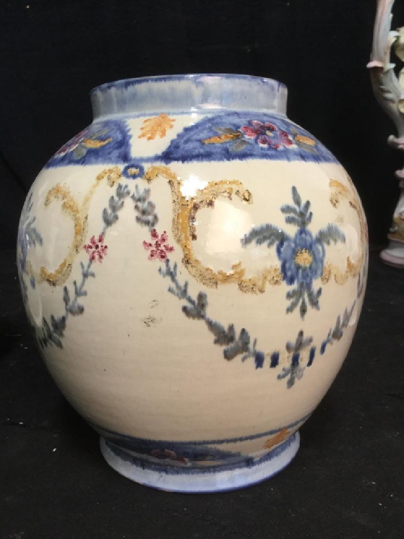 Pair hand painted Ceramic Vases Portugal - 7