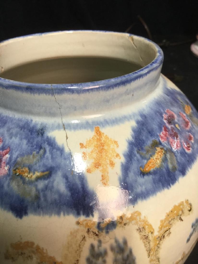 Pair hand painted Ceramic Vases Portugal - 8