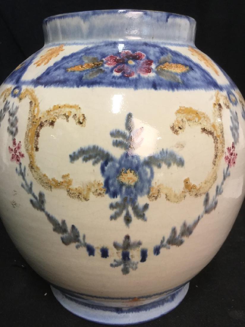 Pair hand painted Ceramic Vases Portugal - 9