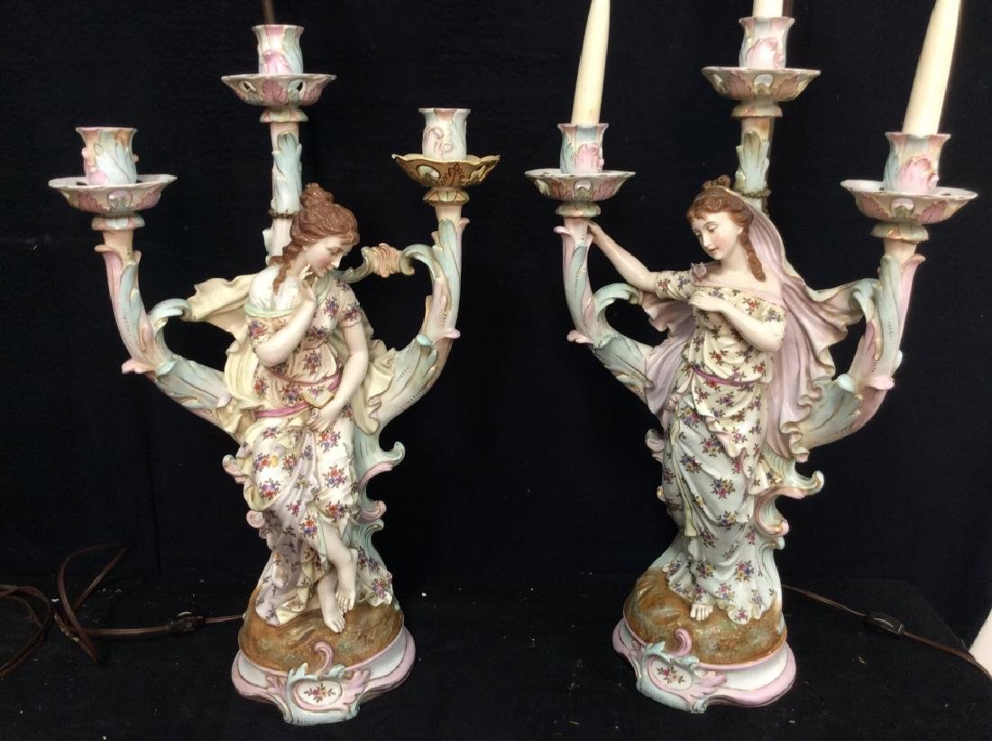 Vintage/Antique Female Form Candelabra Lamps