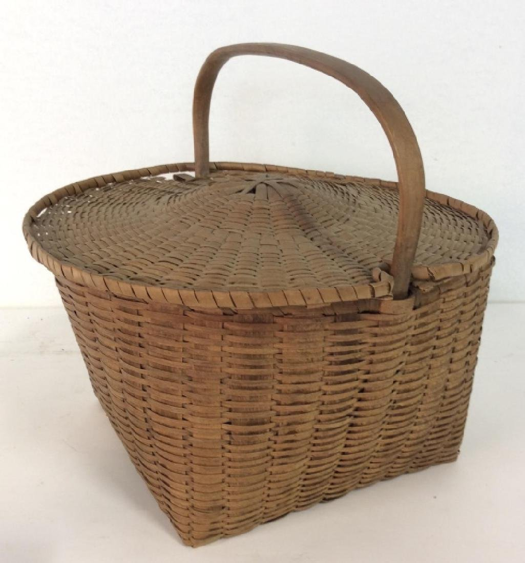19th Century Antique Pie Basket - 5