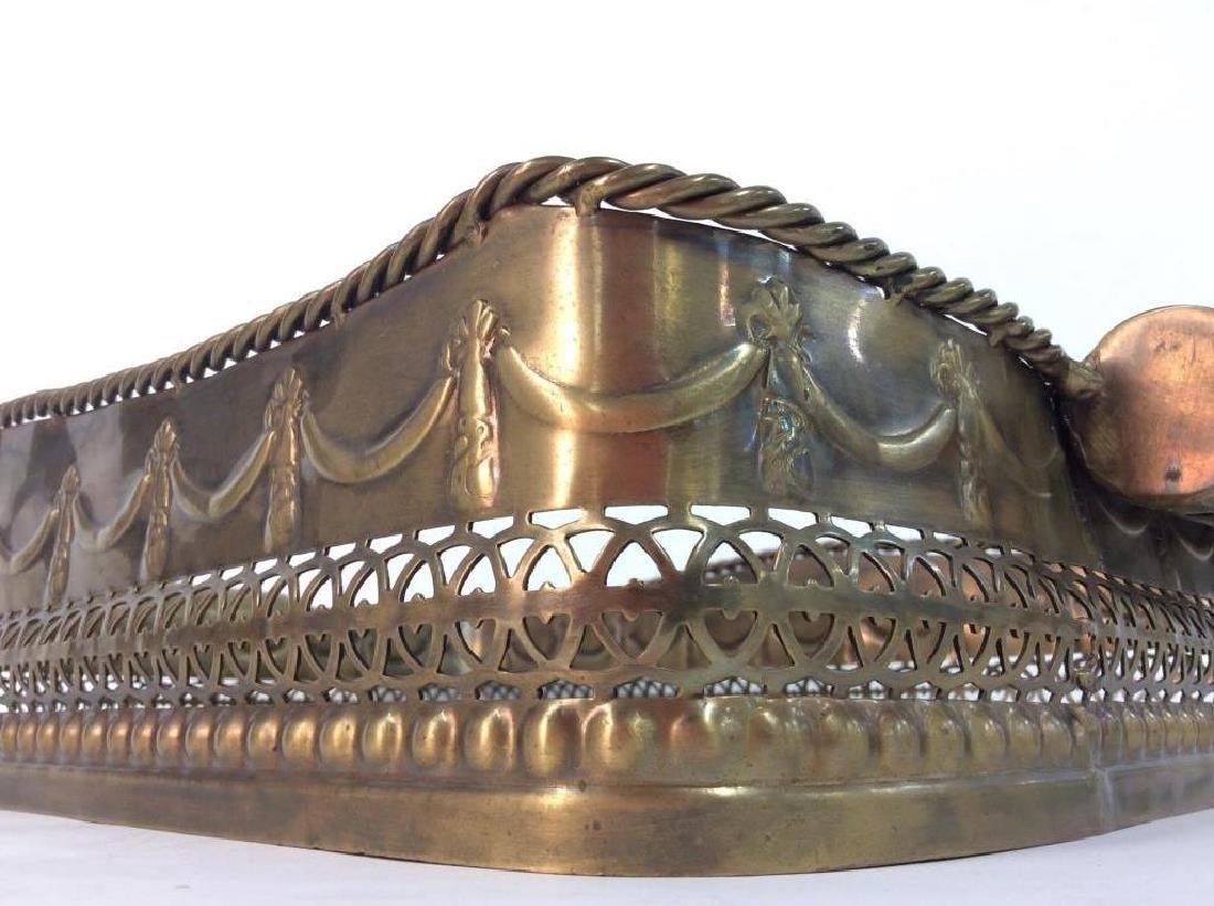 CASTILIAN Ornately Decorated Brass Toned Tray - 5