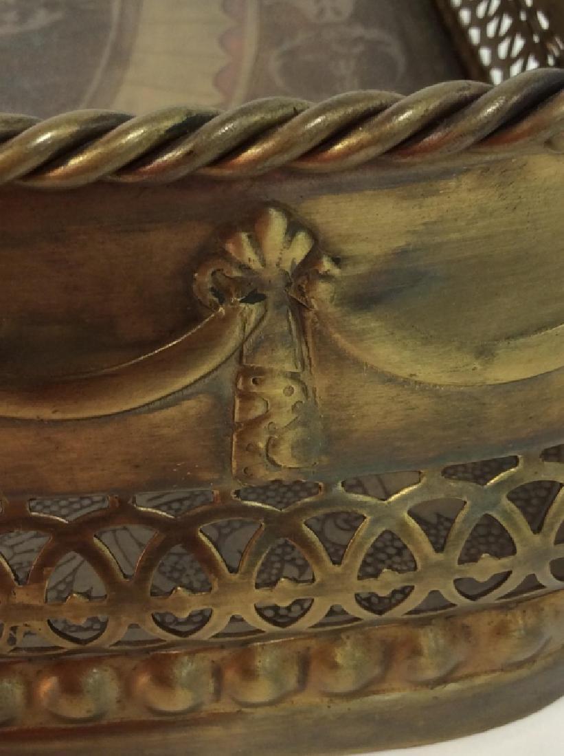 CASTILIAN Ornately Decorated Brass Toned Tray - 7