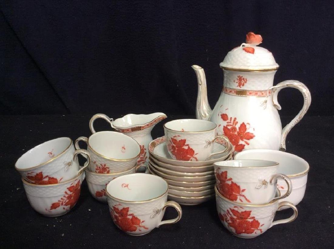 Vintage Hungarian Porcelain Coffee Service Set