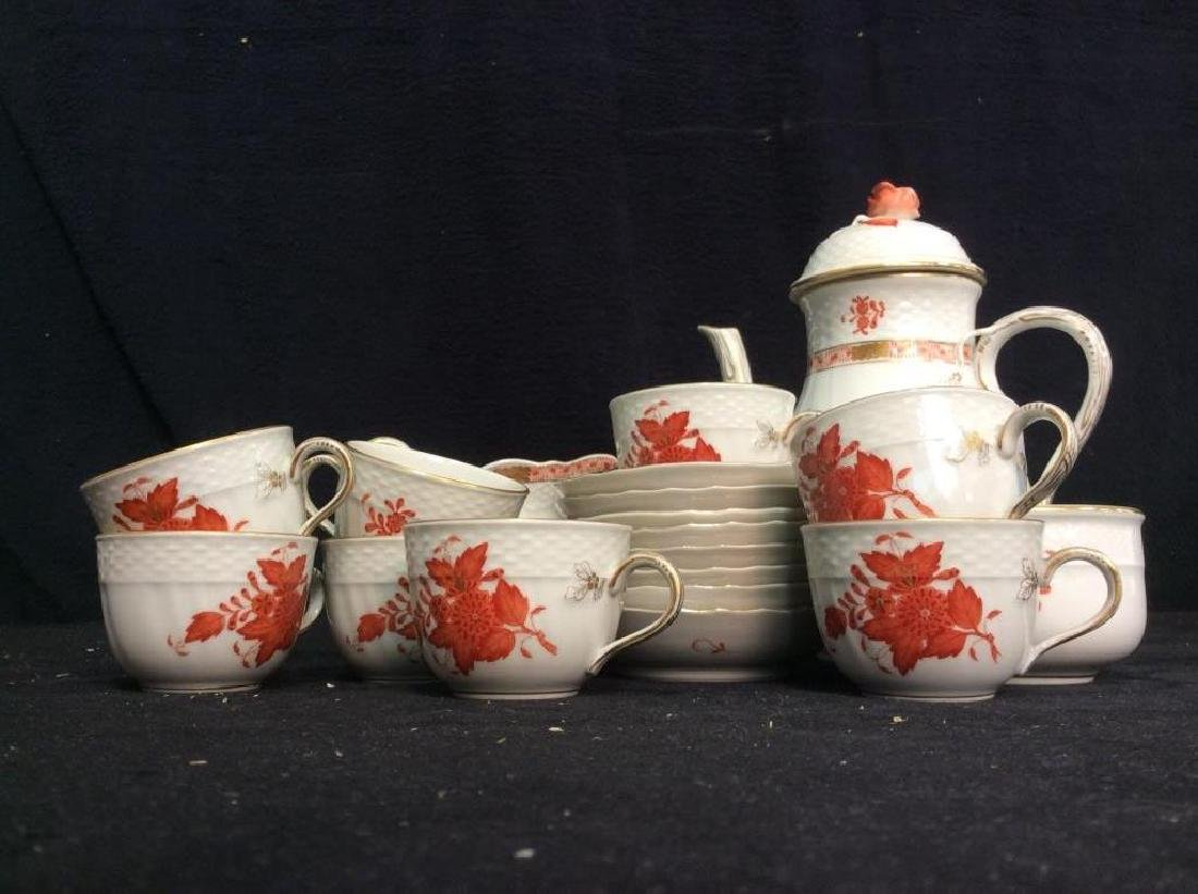 Vintage Hungarian Porcelain Coffee Service Set - 2