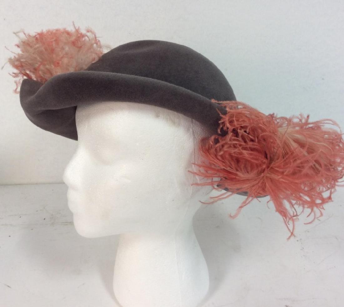 Imported Velour FLAMANO Italian Hat w Box - 4