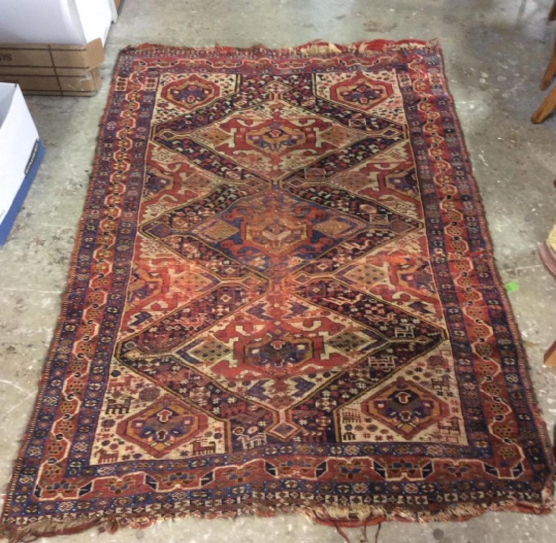 Antique Hand Woven Oriental Carpet