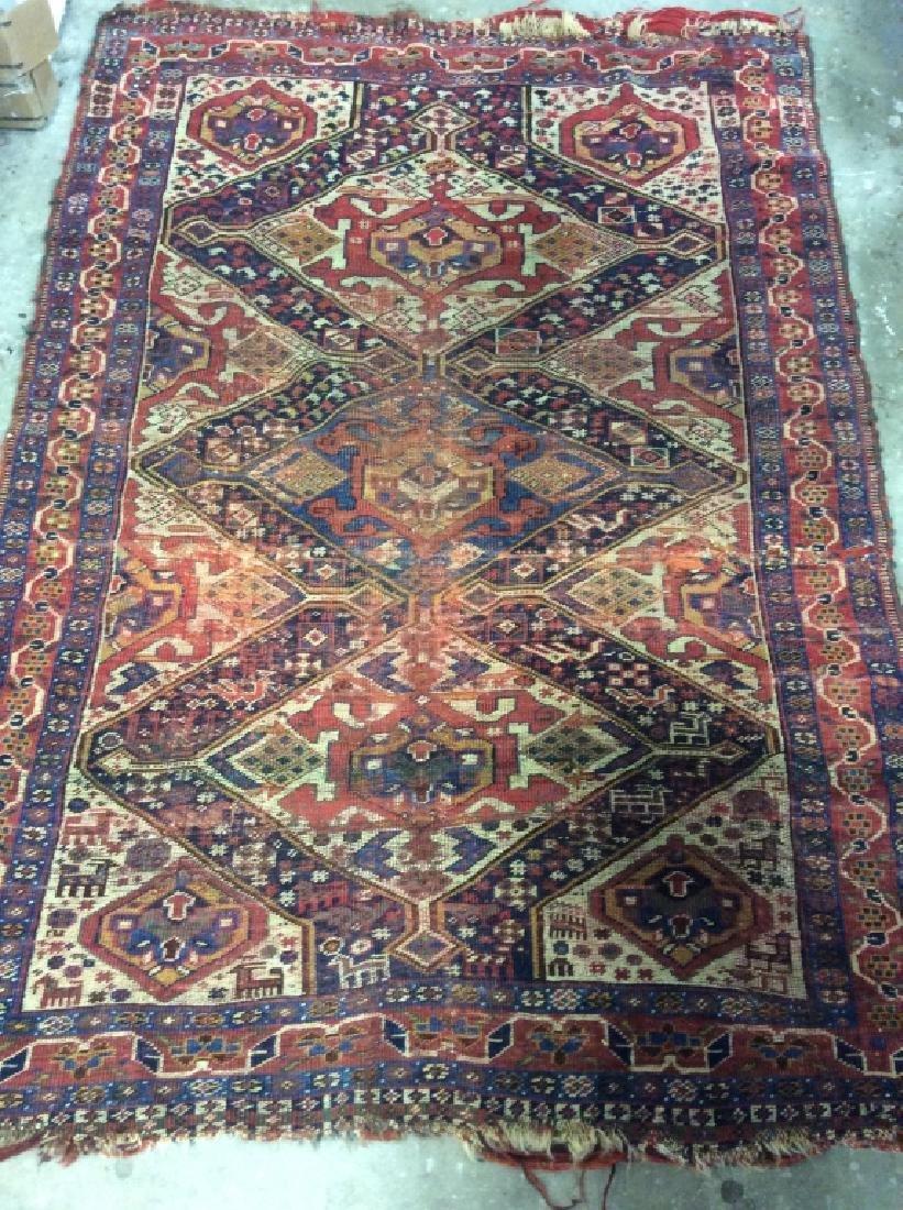 Antique Hand Woven Oriental Carpet - 2
