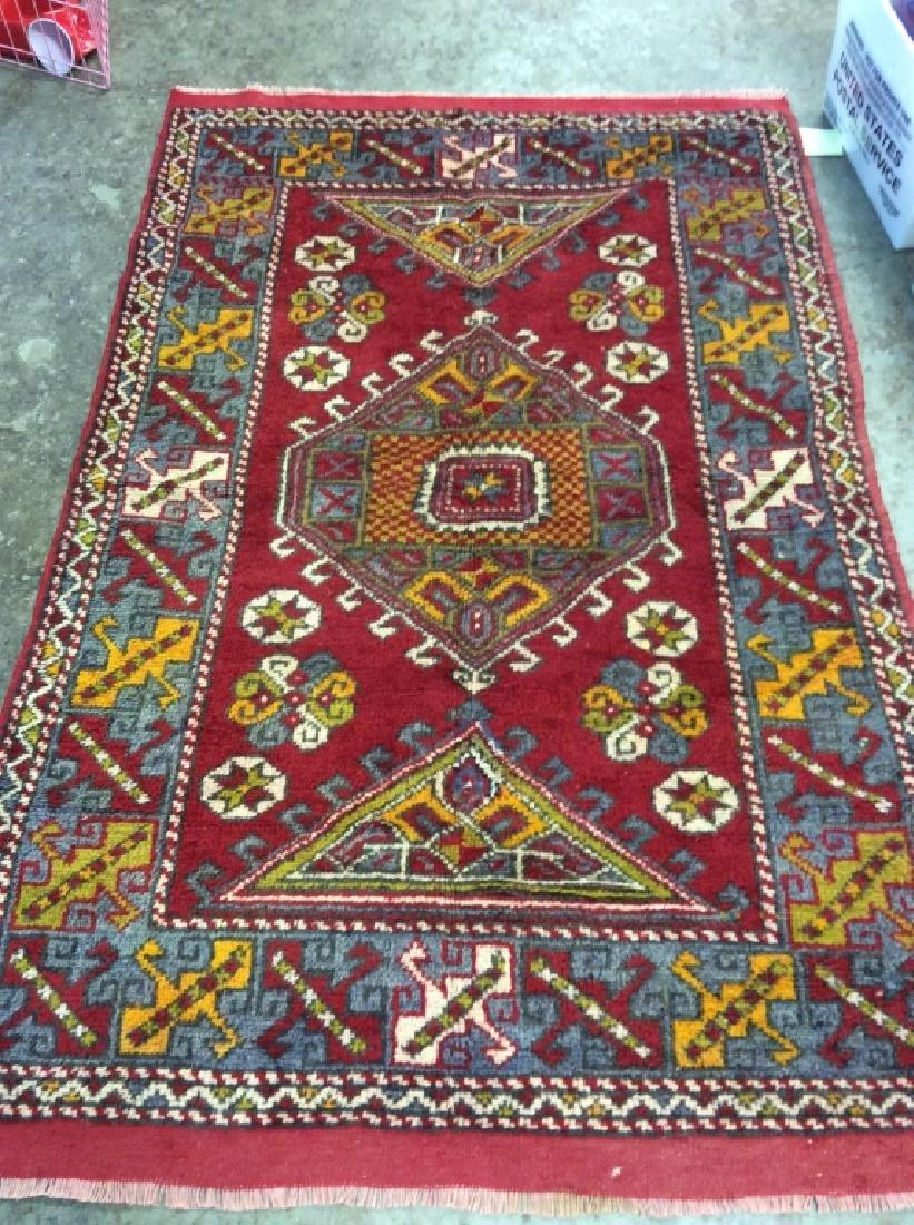 Hand made Vintage Turkish Wool Carpet - 2