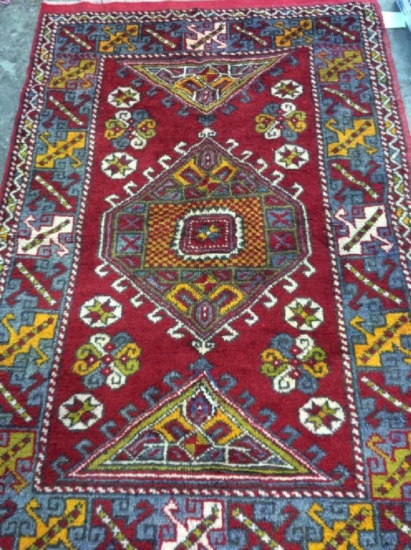 Hand made Vintage Turkish Wool Carpet - 3