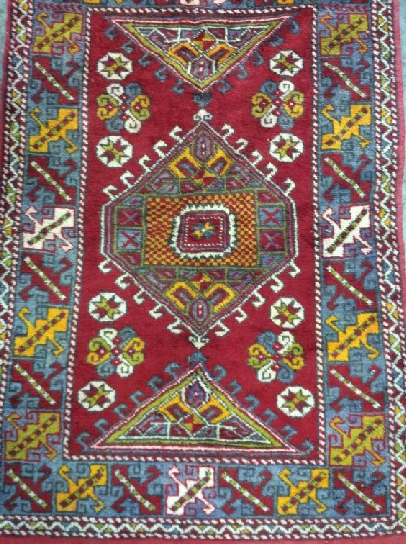 Hand made Vintage Turkish Wool Carpet - 4