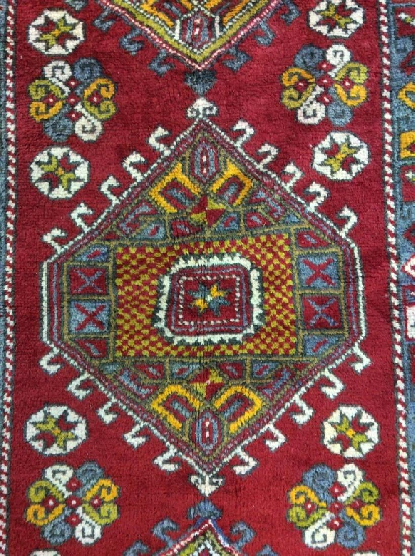 Hand made Vintage Turkish Wool Carpet - 5