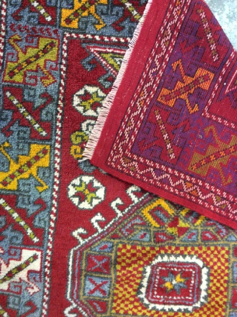Hand made Vintage Turkish Wool Carpet - 8
