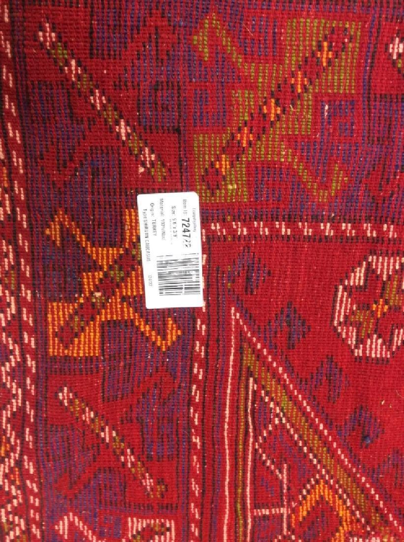 Hand made Vintage Turkish Wool Carpet - 9