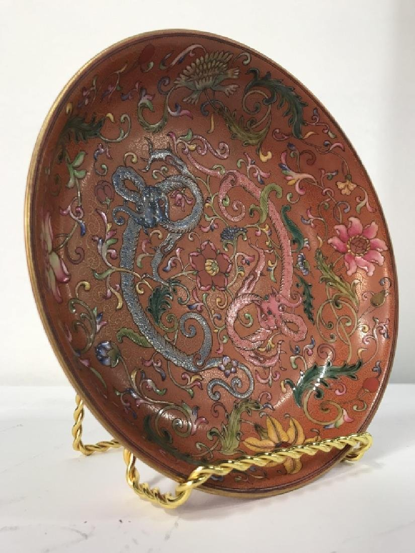 Vintage Porcelain Intricately Detailed Asian Bowl - 2