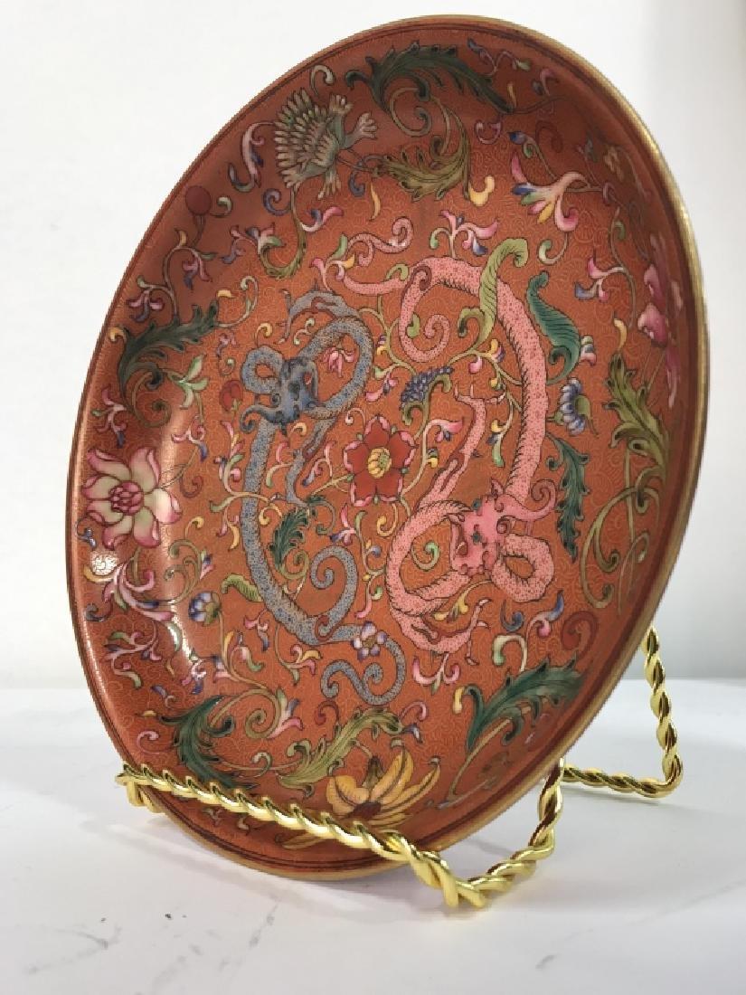 Vintage Porcelain Intricately Detailed Asian Bowl - 3