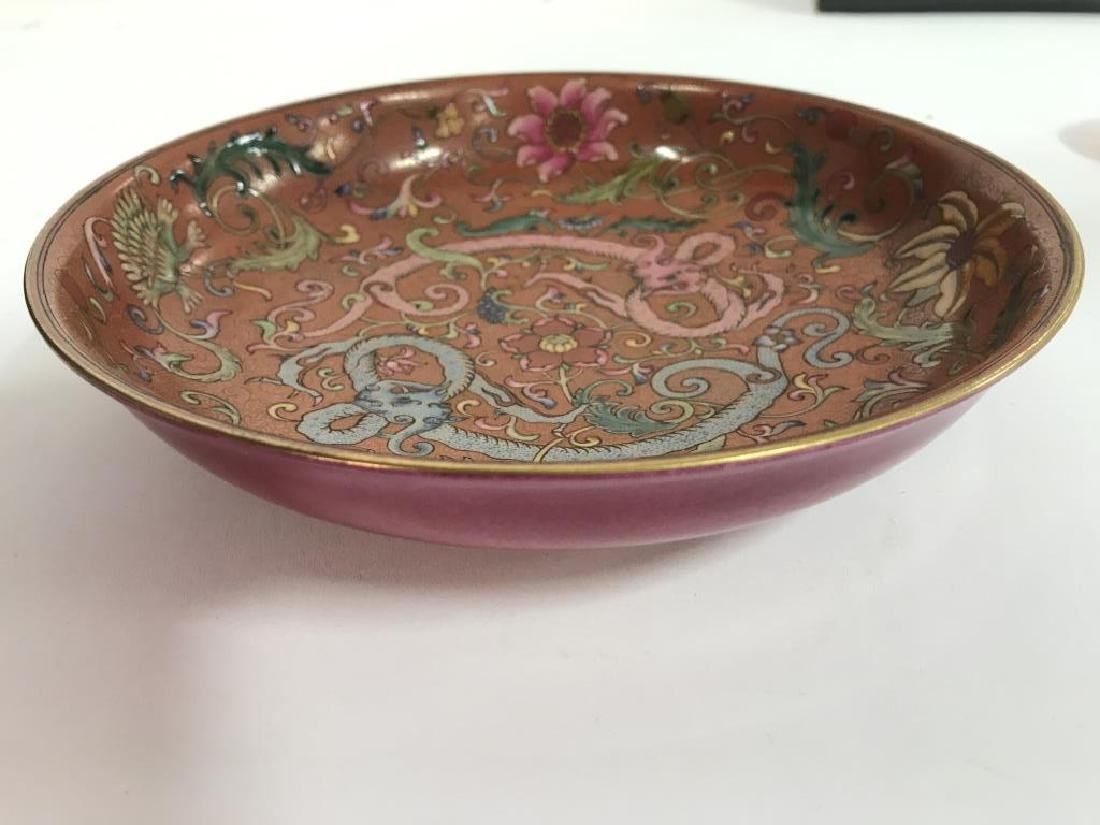 Vintage Porcelain Intricately Detailed Asian Bowl - 5