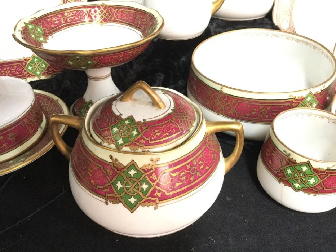 56 piece Russian Painted Porcelain Dinner Servicet - 3