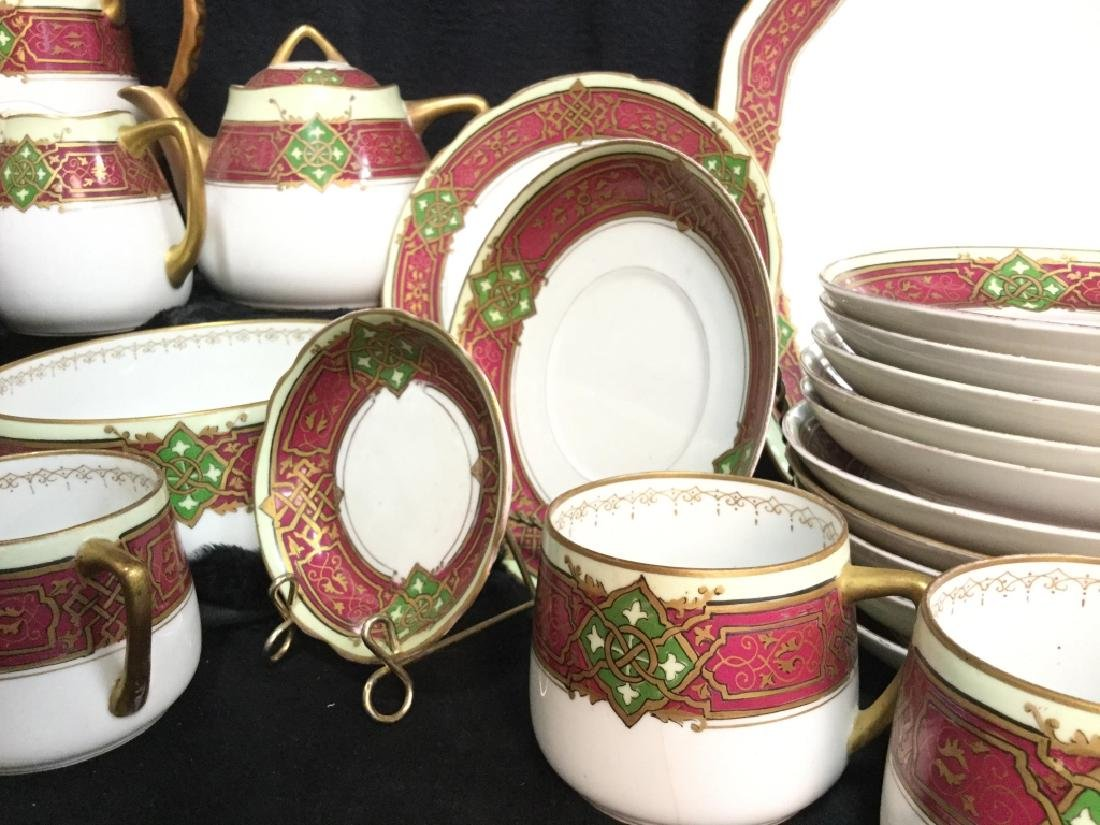 56 piece Russian Painted Porcelain Dinner Servicet - 5