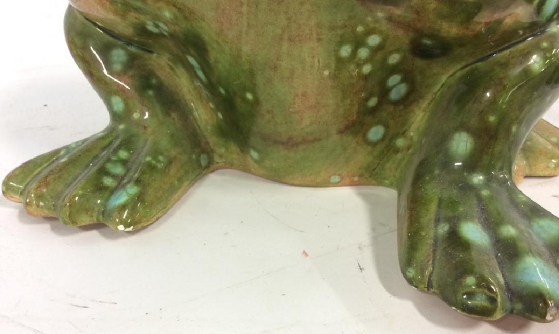 Large Ceramic Frog Statue - 10