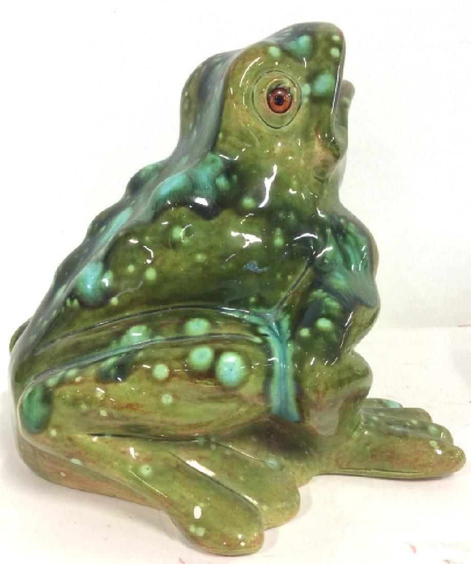 Large Ceramic Frog Statue