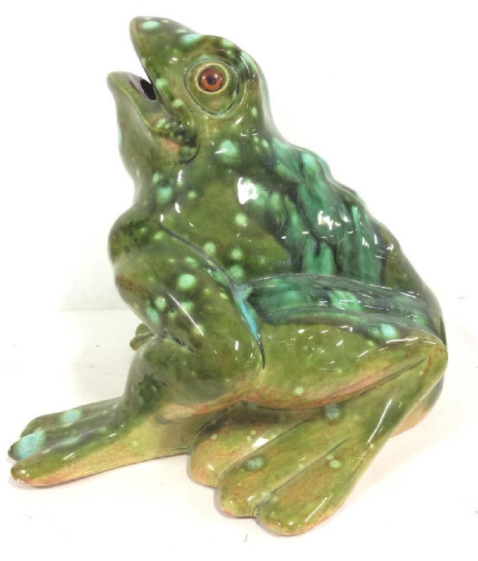 Large Ceramic Frog Statue - 2