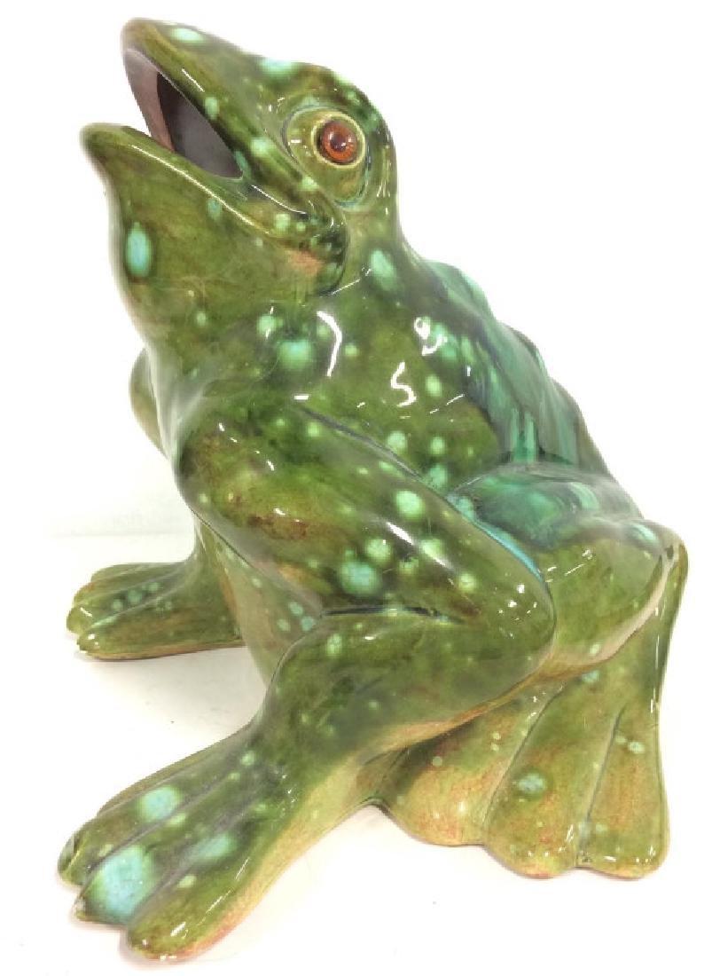 Large Ceramic Frog Statue - 3