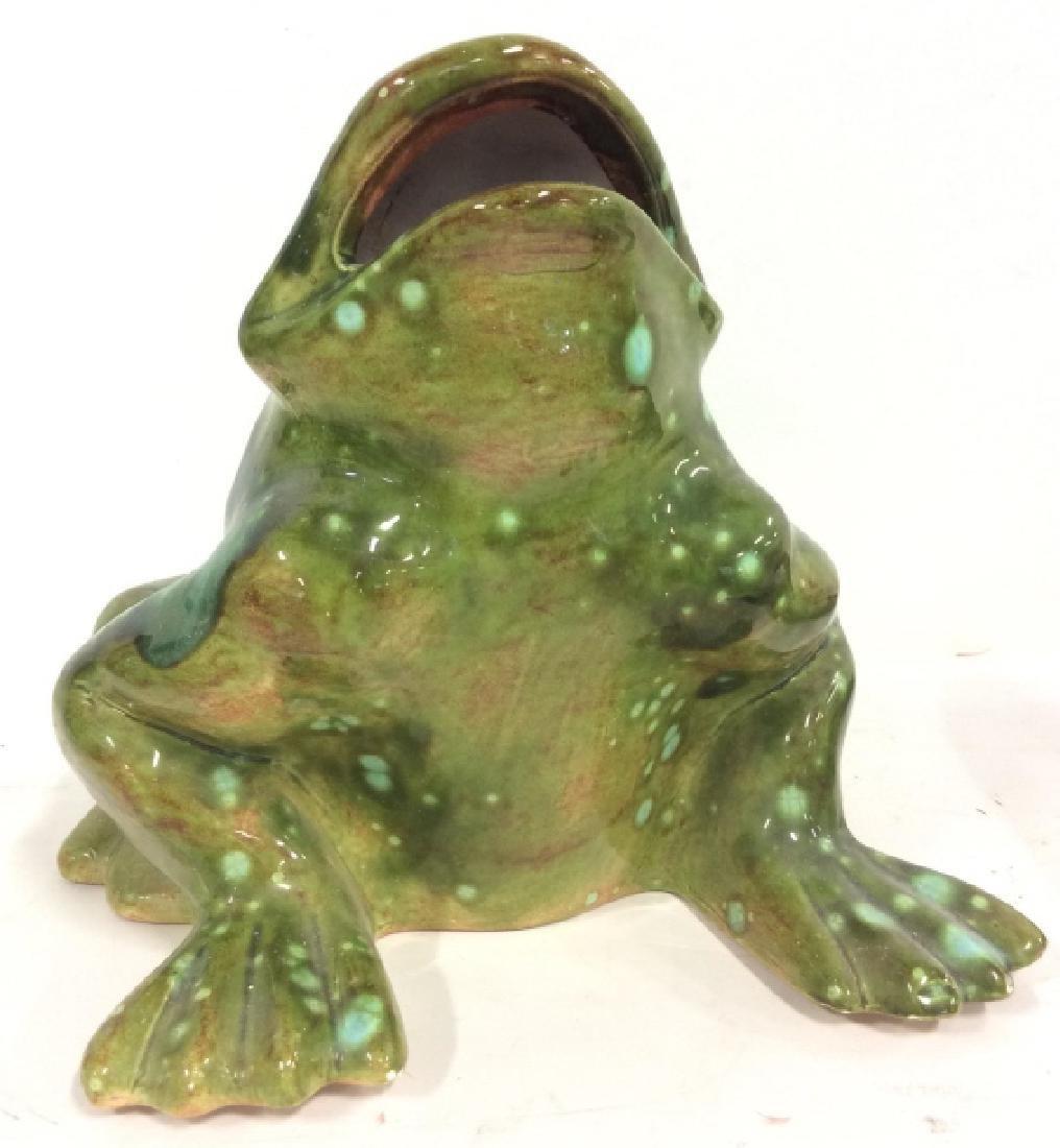 Large Ceramic Frog Statue - 7