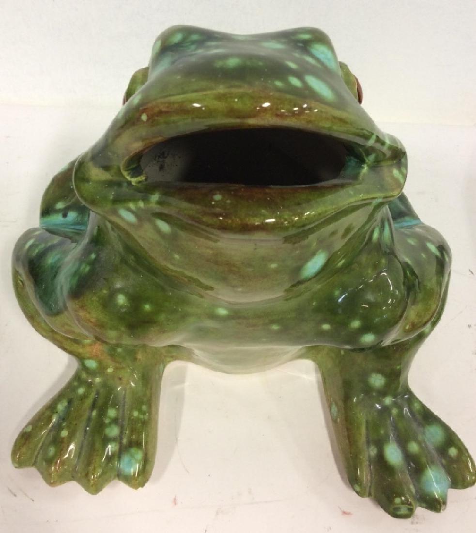 Large Ceramic Frog Statue - 8