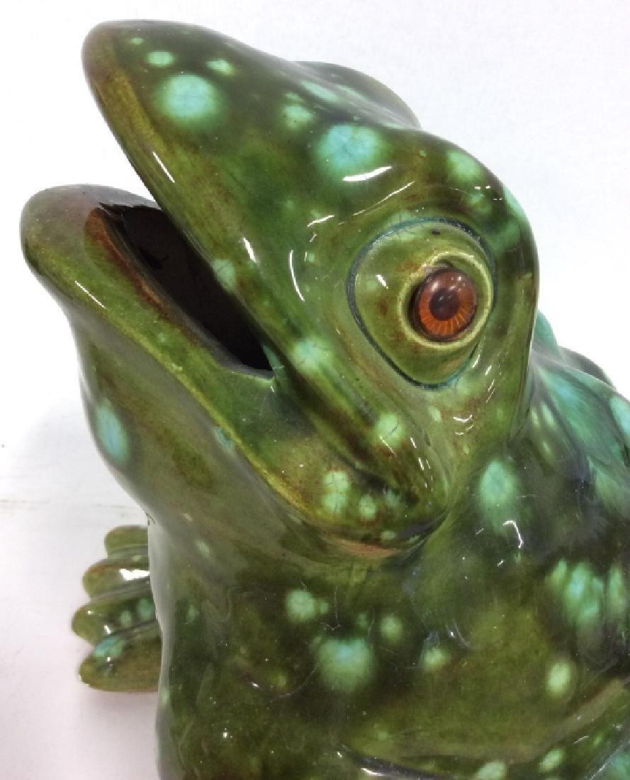 Large Ceramic Frog Statue - 9