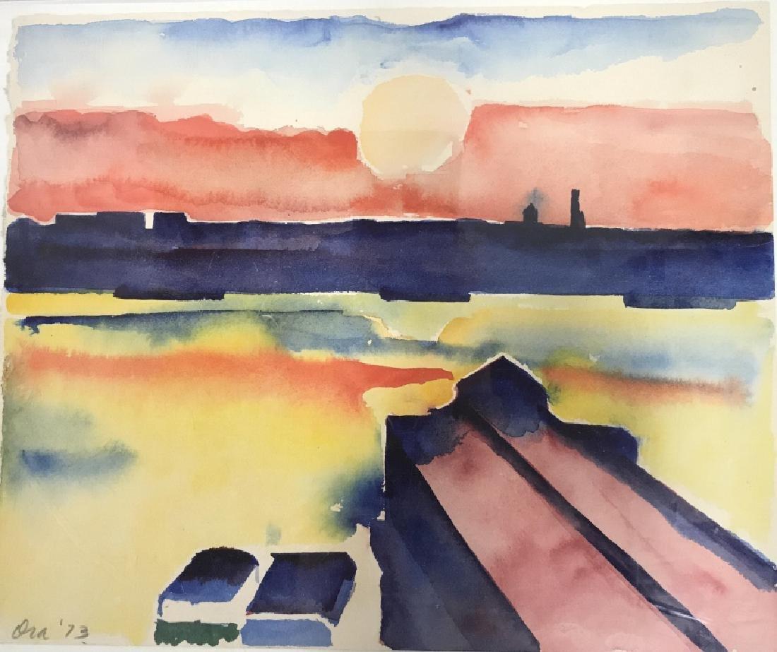Ora '73 Watercolor Painting Plastic Casing