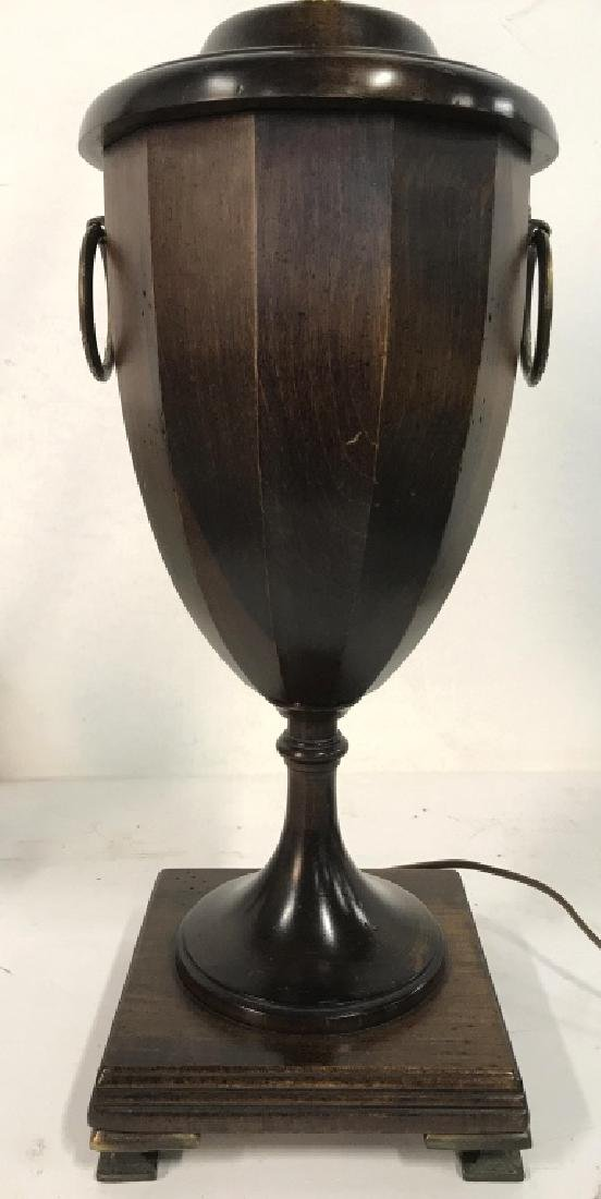 Carved Wooden Trophy Shaped Lamp