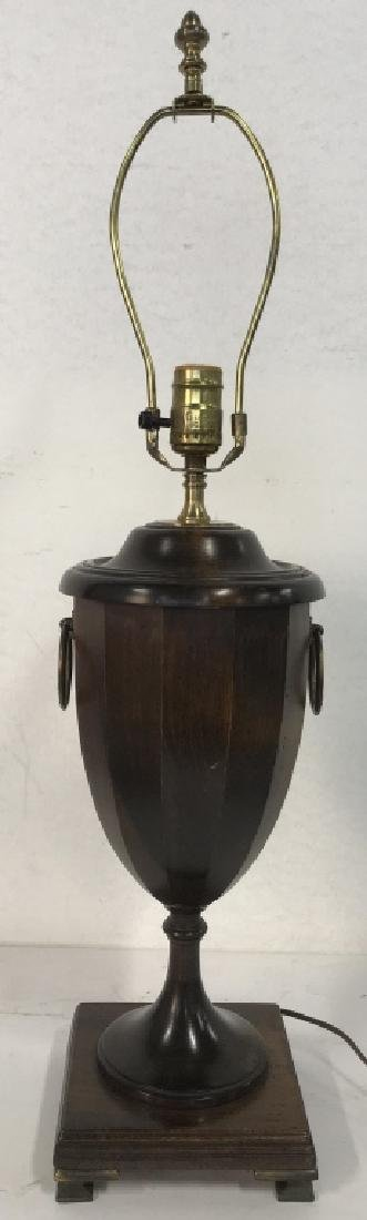 Carved Wooden Trophy Shaped Lamp - 3